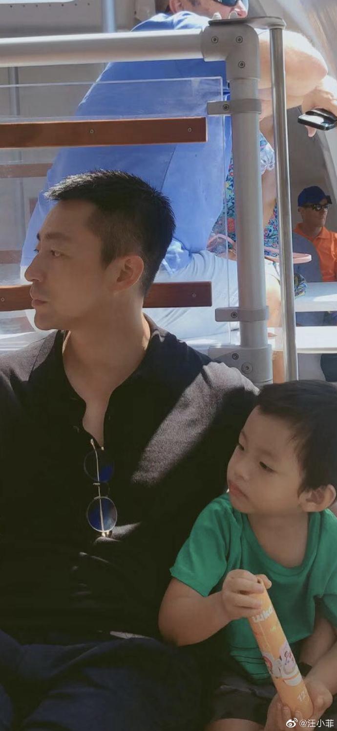 網友認為汪希箖像極了爸爸汪小菲。(翻攝自汪小菲微博)