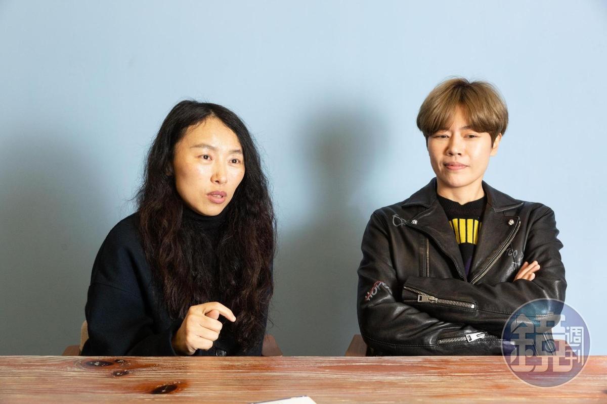 周美豫(右)看好台灣驚悚恐怖片市場,今年以5千萬元籌拍電影,由傅天余編劇、執導。
