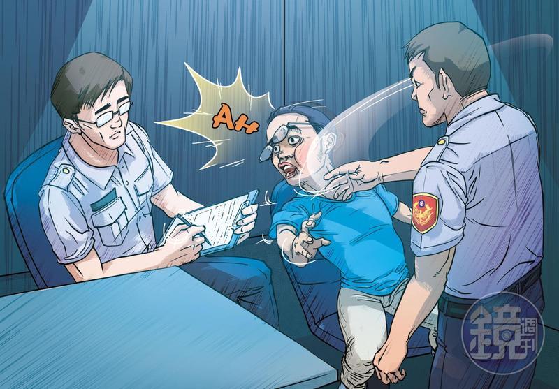 小友被控妨害公務遭員警帶回偵訊,卻因不配合製作筆錄,慘遭呼巴掌、打肚子等方式刑求。