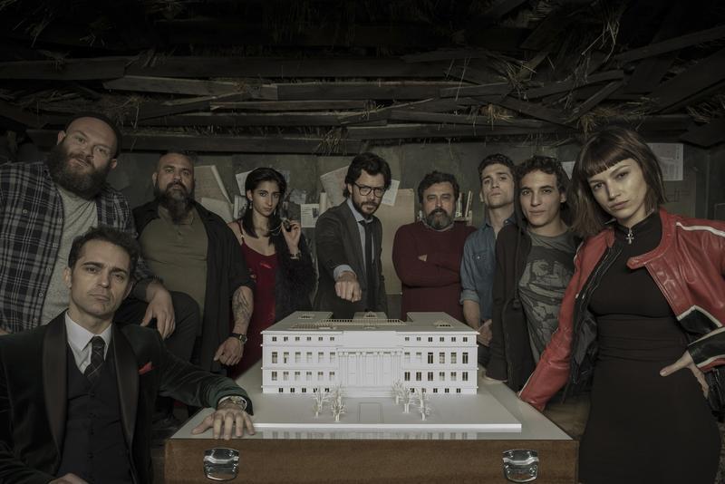 「教授」與8個各自不同背景的人組成了集團,開始幹起搶錢的勾當,這就是《紙房子》最初的設定。(Netflix提供)