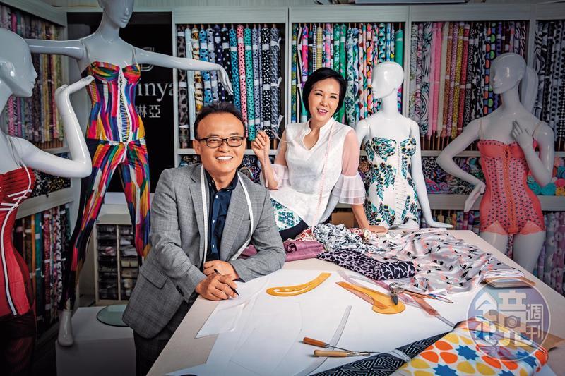 鄧民華(左)與莊碧玉(右)於公於私都是最佳拍檔,共創蘿琳亞塑身衣品牌,是國內量身訂製無彈性塑身衣龍頭,去年營收達二億元。