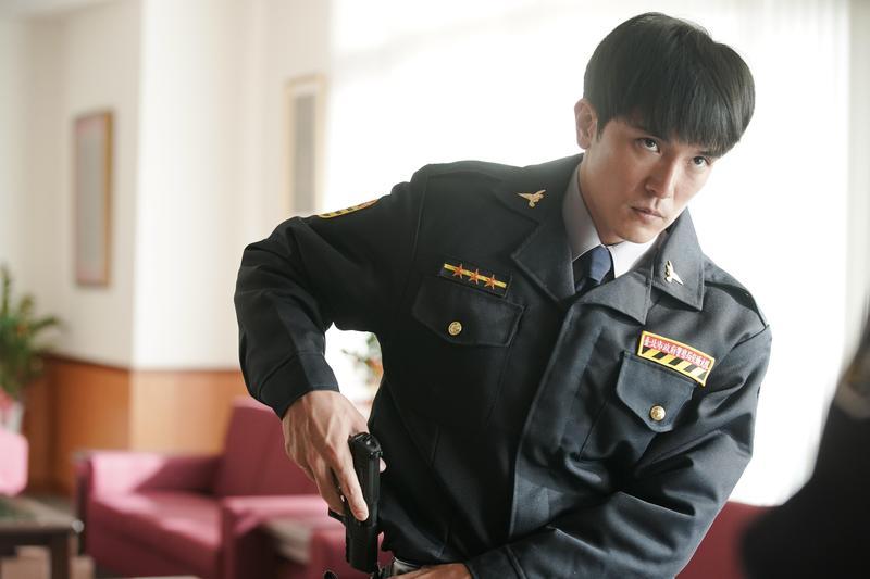 邱澤在電影中飾演具有靈異體質的警察。(甲上提供)