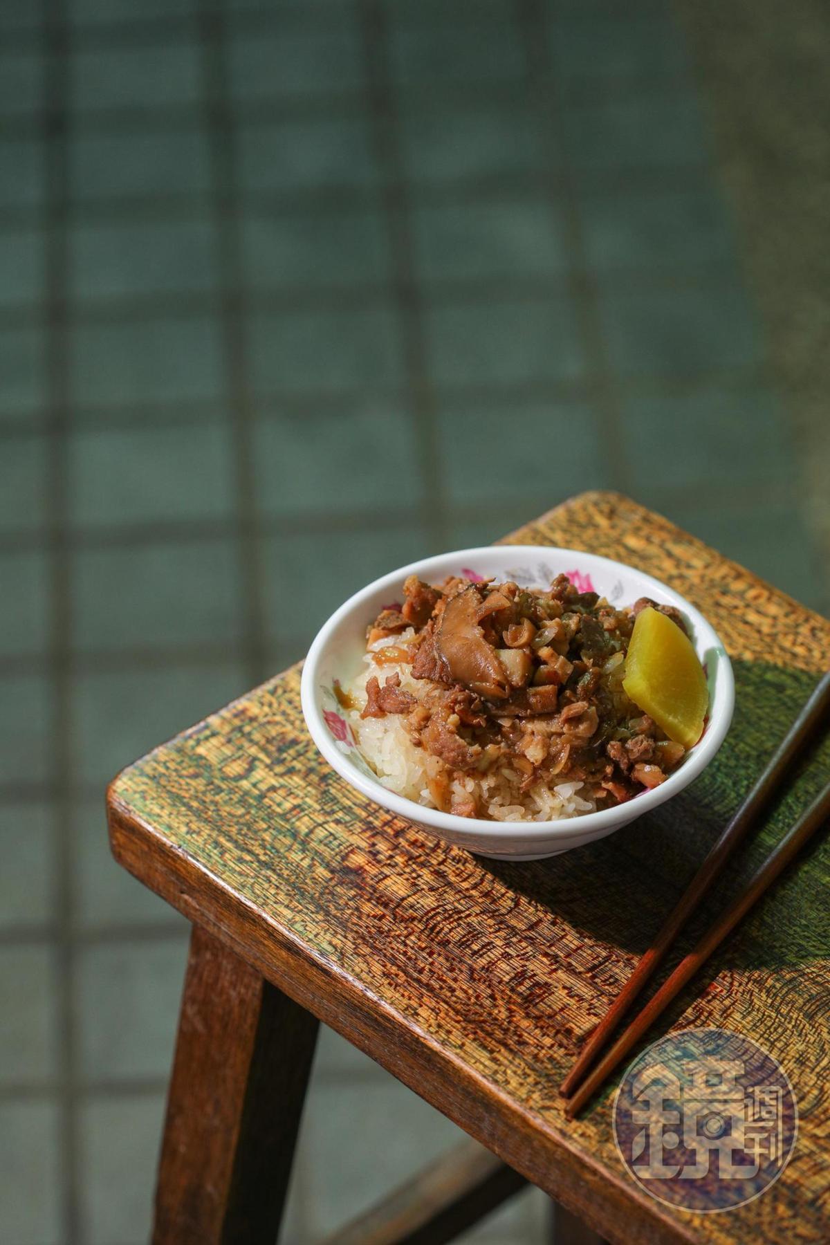 「米糕」米飯鬆爽鹹香,會涮嘴。(30元/碗)