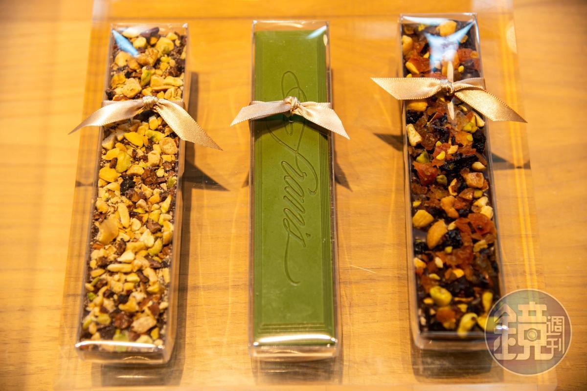 各種口味的巧克力bars也很受歡迎。