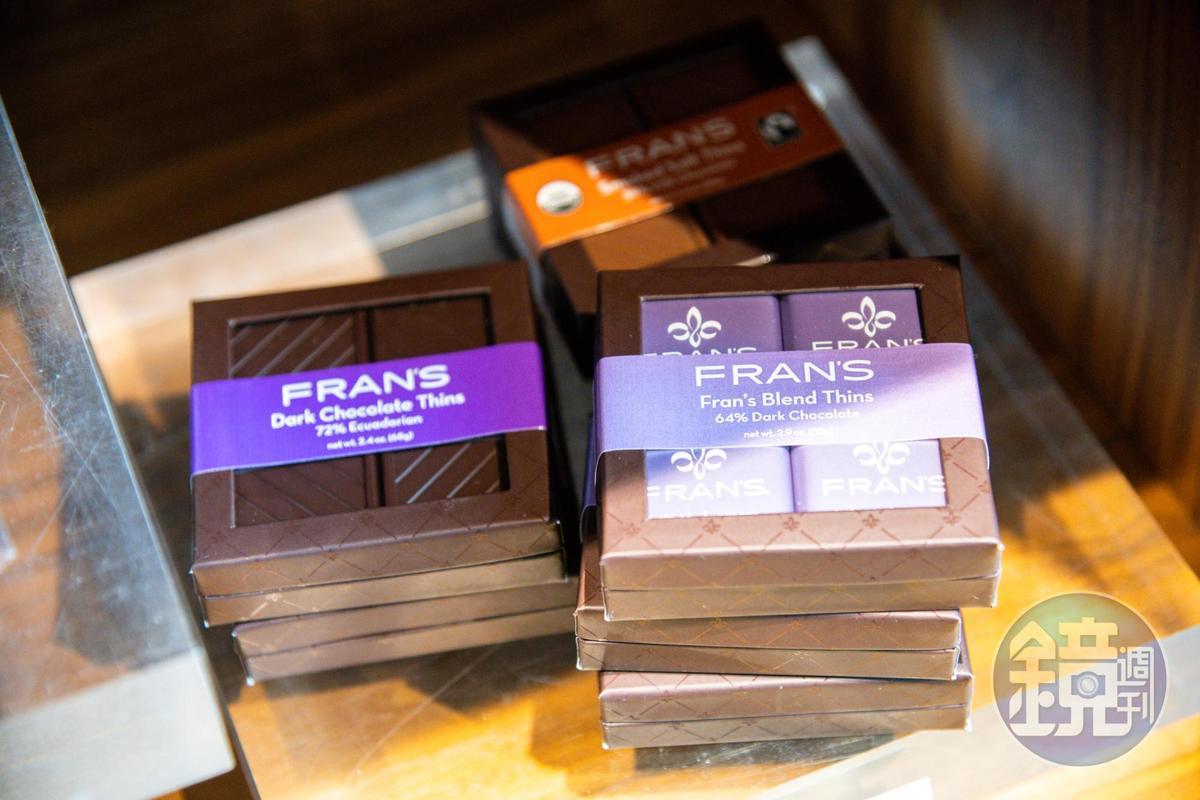 64%、72%的高純度黑巧克力,也是人氣商品。