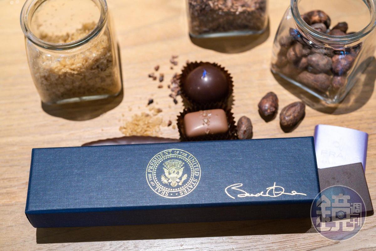 白宮向FRAN'S訂製的巧克力禮盒。
