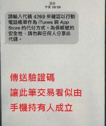 詐騙銀行向金融機構申請認證碼傳給民眾。(刑事局提供)