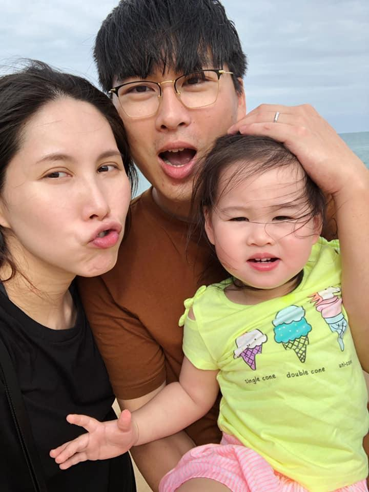 余苑綺與老公Gary及女兒一家三口經常在網上放閃。(翻攝余苑綺臉書)