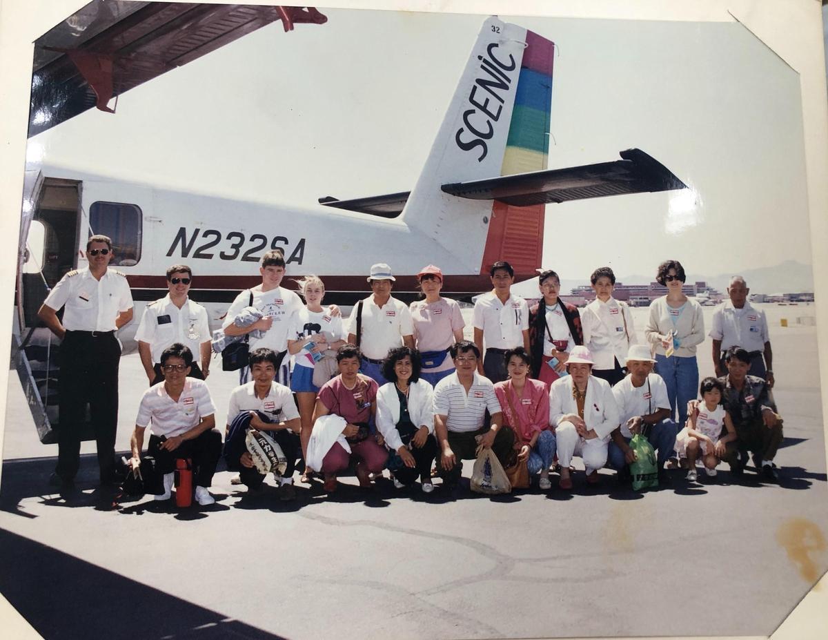 聯夏食品創辦人林柏榮從不吝與員工分享利潤,35年就招待員工到美國員工旅遊。(聯夏食品提供)
