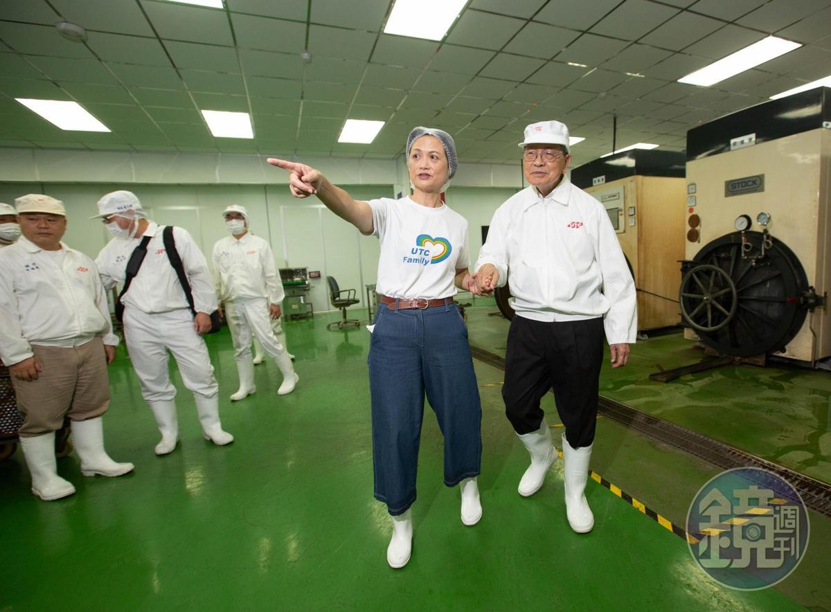林柏榮(右)1970年創立聯夏食品,曾是國內最大豆餡外銷生產商,女兒林慧美(左)加入後,多角化經營切入調理食品,是許多食品、餐飲品牌不可或缺的原物料供應商。