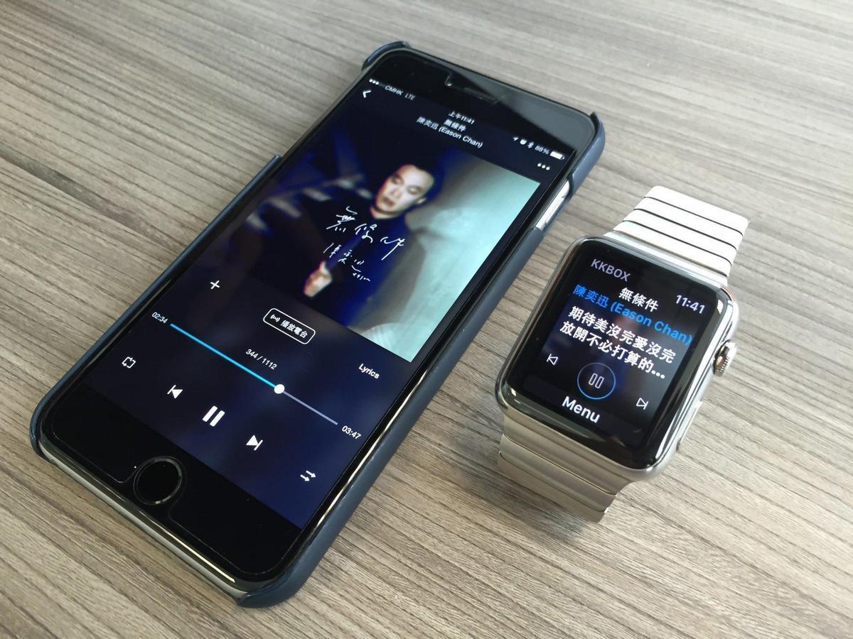 KKBOX放眼智慧裝置提早布局,目前台灣市面多款智慧電視、智慧手錶皆內建KKBOX。(KKBOX提供)