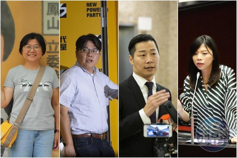 時代力量決策委員會包括三大勢力,包括前祕書長陳惠敏(左1)的「自主派」、邱顯智(左2)為主的「律師派」、已退黨的林昶佐(右2)以及洪慈庸(右1)的「親綠派」。(左1翻攝自陳惠敏臉書)
