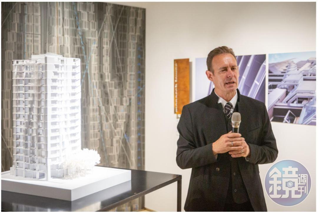 德韋恩說,設計能讓生活更美好,希望住在由他們事務所經手建案的居民,也能過更美好的生活,感受到自己是建築藝術一部份。