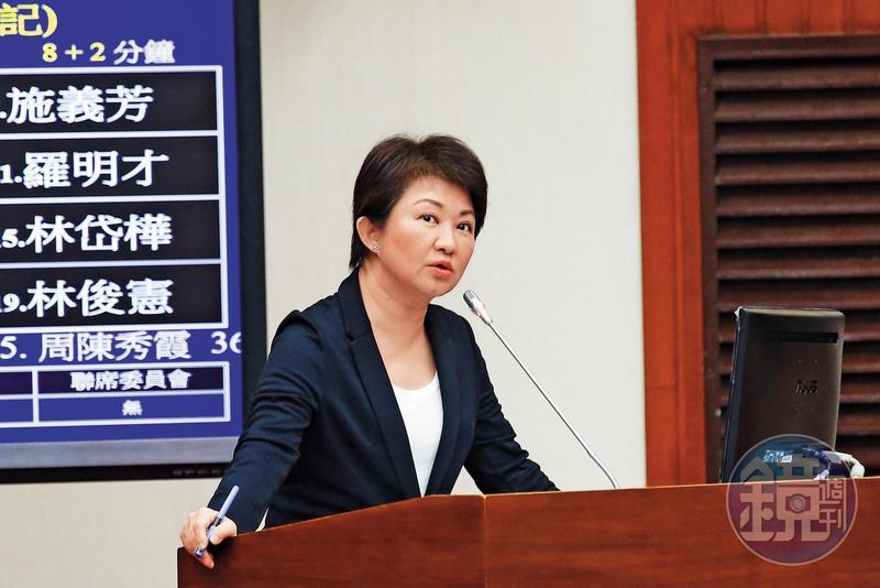 台中市長盧秀燕(圖)擔任立委時,曾痛批外交部對高官性騷案懲處不公。