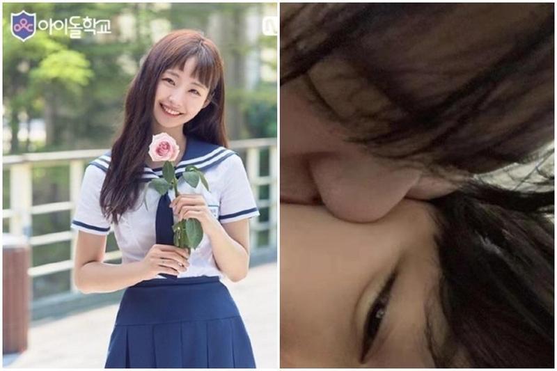 慎惠仁前年參加選秀節目《偶像學校》(左圖),但節目僅播出一集就宣布退出,日前公開出櫃。(翻攝自Naver、IG)