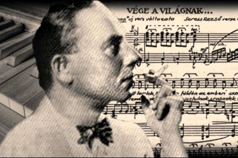 匈牙利作曲家萊索塞萊什(左圖、右圖右)與未婚妻分手後寫下〈憂鬱星期天〉,傳出有上百人聽過後因此自殺身亡,被列為「世界3大禁曲」。(翻攝自網路)
