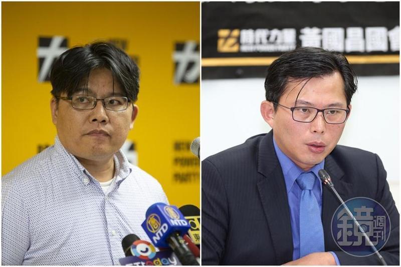 已請辭的時力主席邱顯智(左)傳出日前曾向黃國昌(右)主動表態願意代表時力參選該區立委,不過並不被黃所接受。