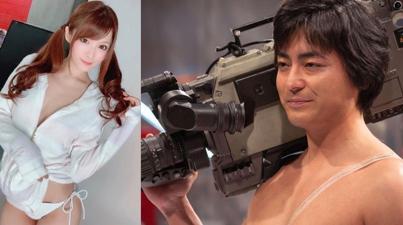 新任AV奧斯卡影后相澤南為《AV帝王》客串演出,她嬌羞地稱讚山田孝之本人超有魅力。(合成照片,左圖翻攝自相澤南推特,右圖Netflix提供)