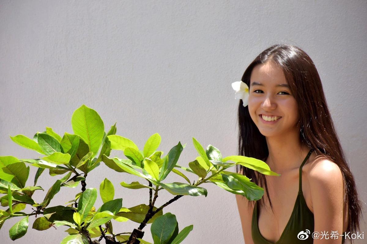 網友紛稱讚木村光希笑容很甜。(翻攝木村光希微博)