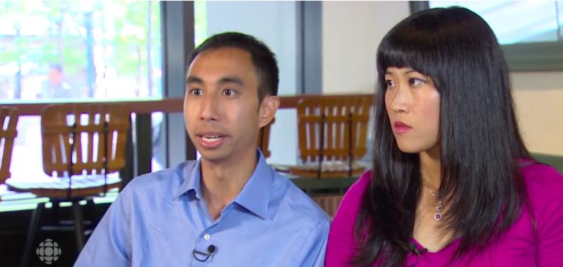 Kristy(右)與Bryce(左)退休時,分別只有31歲和32歲。(翻攝自CBC)