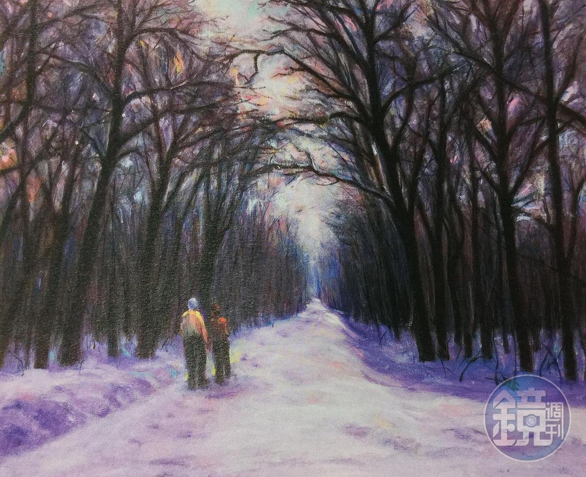 張忠謀非常喜歡張淑芬〈執子之手〉畫作,要她繼續畫系列作品。