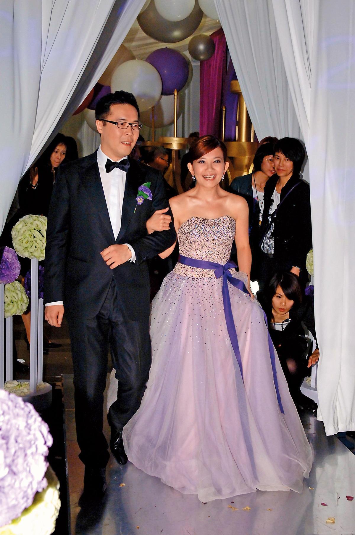 梁靜茹於2010年嫁給趙元同,兩人除了在長灘島舉辦海島婚禮,也回到台北宴客。(東方IC)