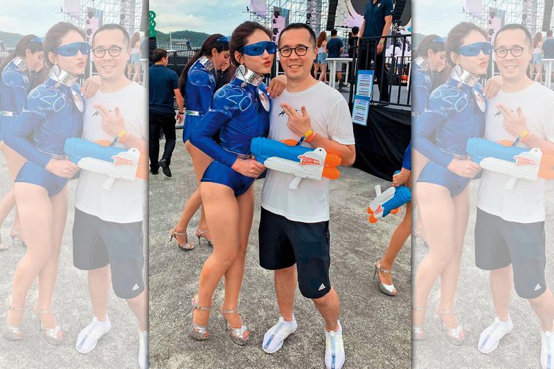 趙元同在臉書分享參加S2O潑水音樂節的開心模樣。(翻攝自趙元同臉書)