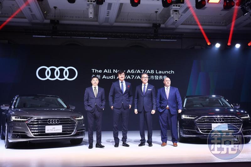 在台銷售大減的台灣奧迪一口氣引進主力的Audi A8、A7、A6創世代豪華房車,準備大反攻。