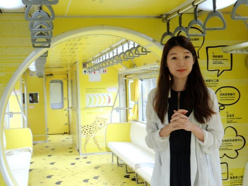 江孟芝所設計的台鐵彩繪車廂,被陸續發現問題。(翻攝fun臺鐵臉書)