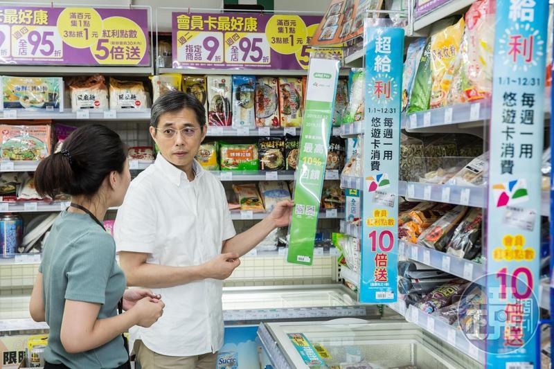 邱光隆在超市、超商之間找到新店型,13年前創始時只賣500項商品,如今40坪店面賣超過3000個項商品。