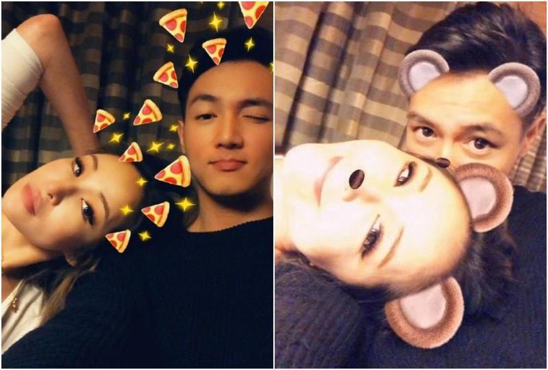 蕭亞軒生日當天曬出躺在男友身上的恩愛照,讓粉絲直呼蕭亞軒的男友永遠不老。(翻攝自蕭亞軒微博)