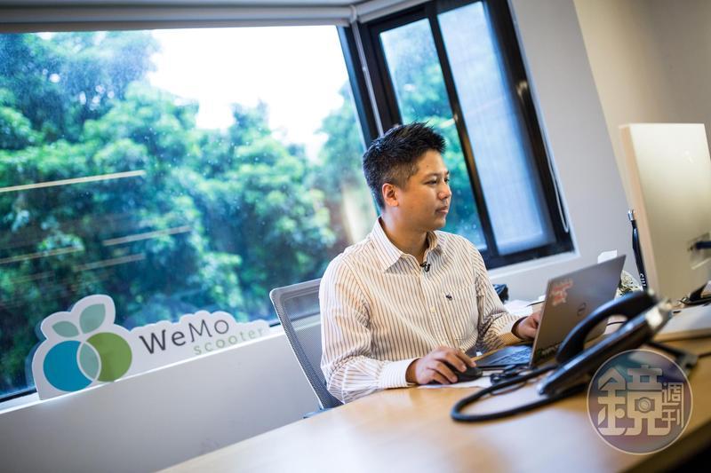 吳昕霈2015年毅然決然捨棄600萬年薪,回台創立WeMo Scooter。
