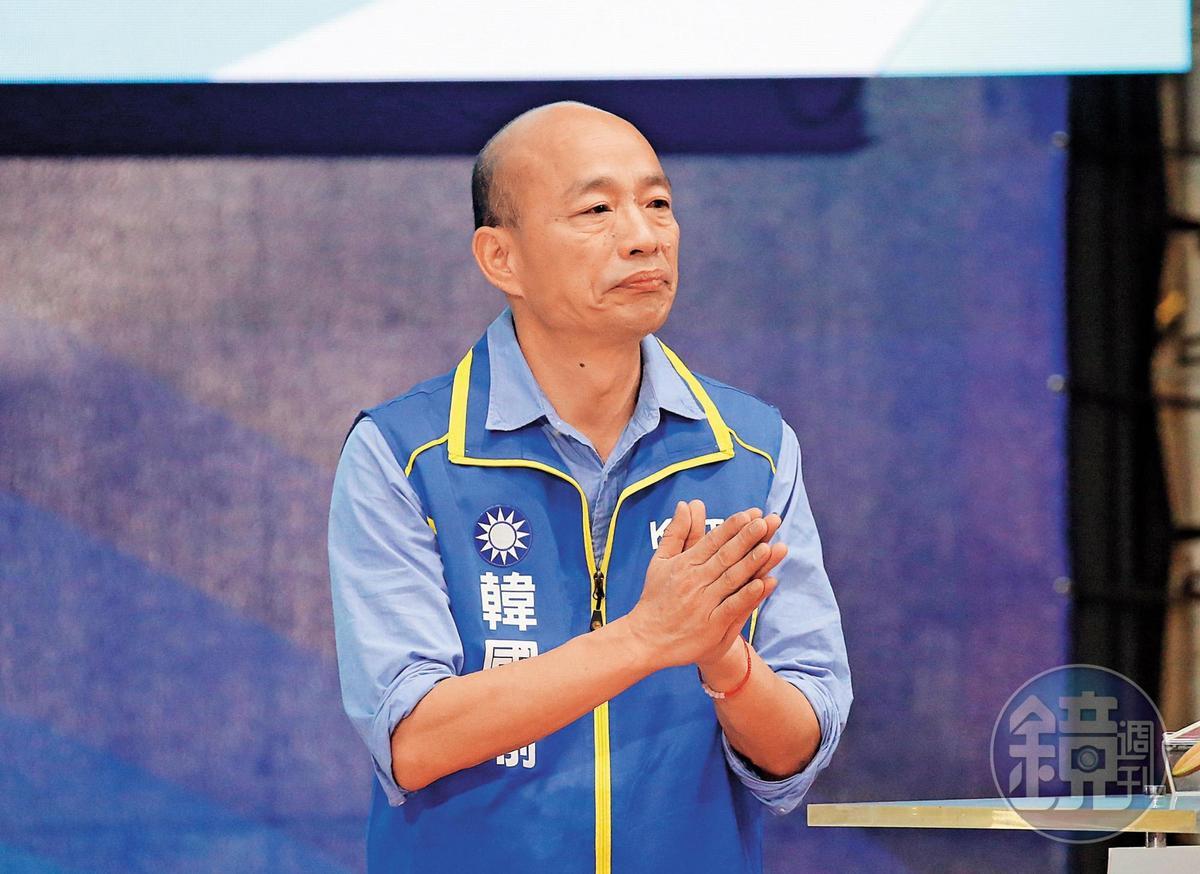 面對黨內同志及昔日老長官結盟攪局,韓國瑜(圖)整合總統之路出現變數。