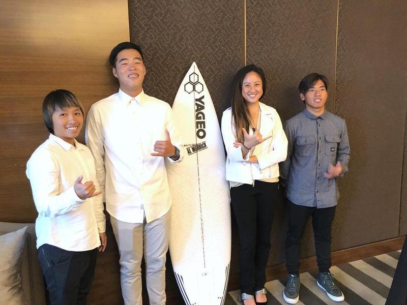 被動元件廠國巨董事長陳泰銘的女兒陳少喬熱愛運動,今年還成立全台第一支職業衝浪隊。