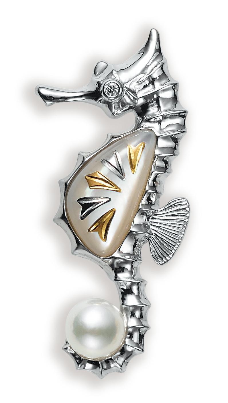 MIKIMOTO海馬造型胸針 NT$67,000