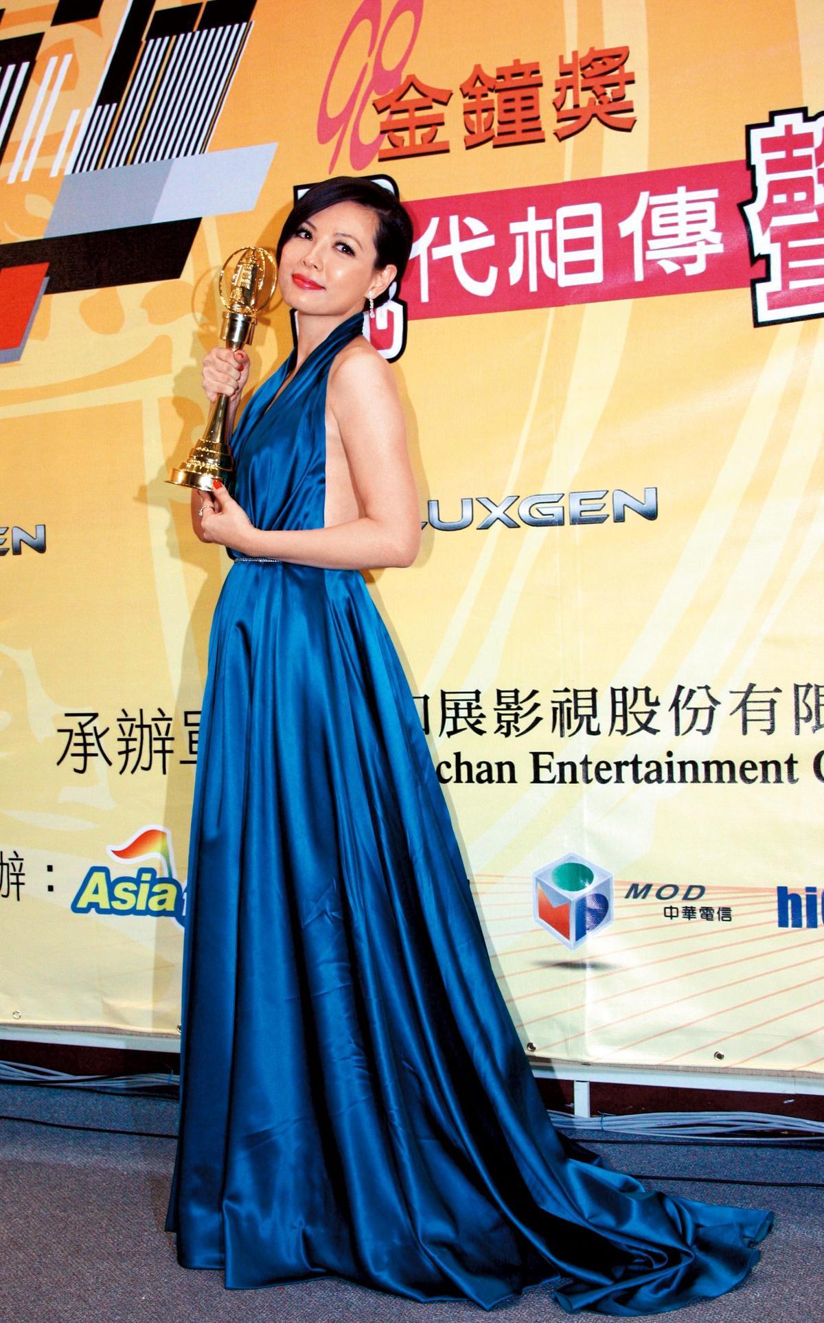 陳孝萱10年前曾以《試管神仙》獲金鐘迷你劇女主角獎,之後為了教育兒子,戲接得很少。(東方IC)