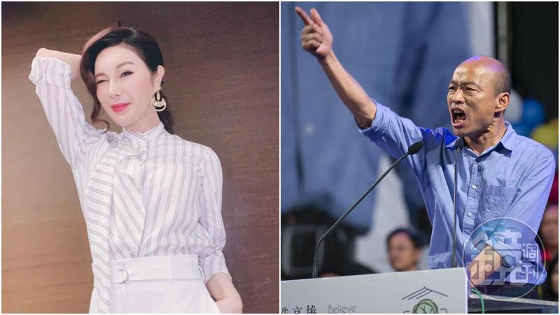 利菁看在老同學韓國瑜的面子上,無酬擔任高雄觀光大使。
