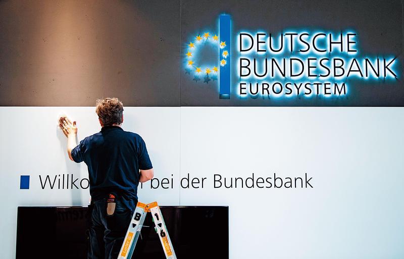 今年來已有4個歐洲國家出現負利率,特別是德國30年期公債標售,平均得標利率為-0.11%最受關注。圖為德國聯邦銀行。(東方IC)