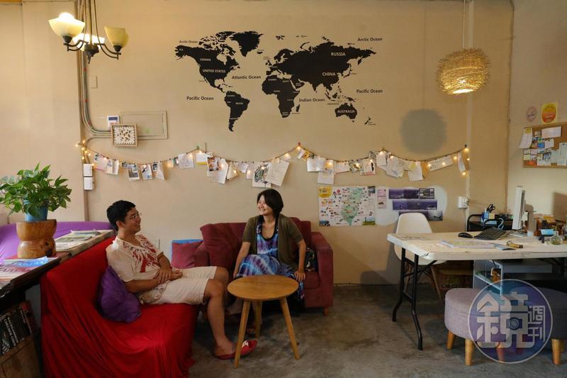 「太魯閣蘇西小空間」一樓提供各地旅人一處溫馨的交流空間。