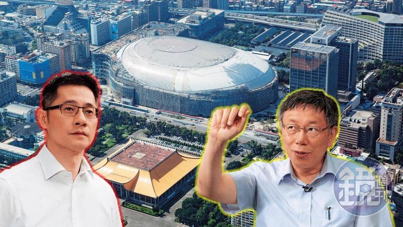 台北市長柯文哲(右)8月中會見遠雄集團董事長趙文嘉(左),獲得遠雄讓步後,態度大轉變,已朝協助年底全面復工方向進行。