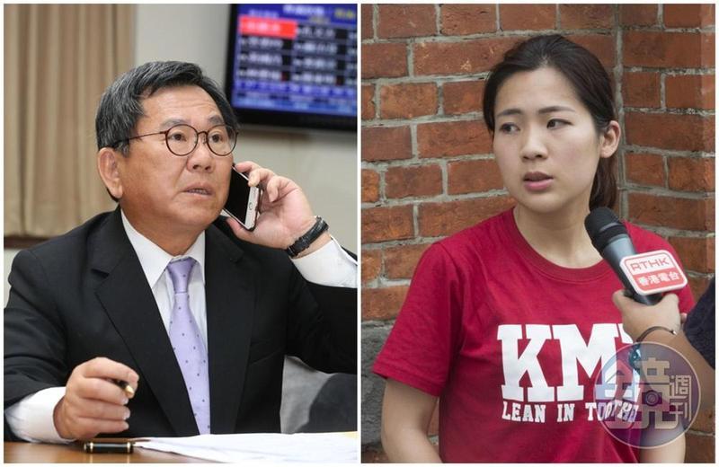 徐巧芯(右)發文,表示不相信高鐵上的300萬現金,是陳明文讓兒子帶去菲律賓創業的錢。