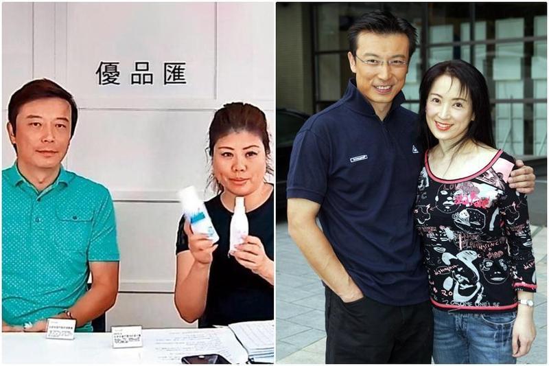 劉灼梅(左圖右)原本是林煒的高爾夫球友,而林煒的老婆龔慈恩(右圖右)是港星。(翻攝自劉灼梅臉書、東方IC)