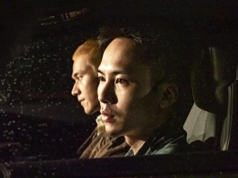 劉冠廷與巫建和在車內對峙,演技驚豔眾人。(甲上提供)