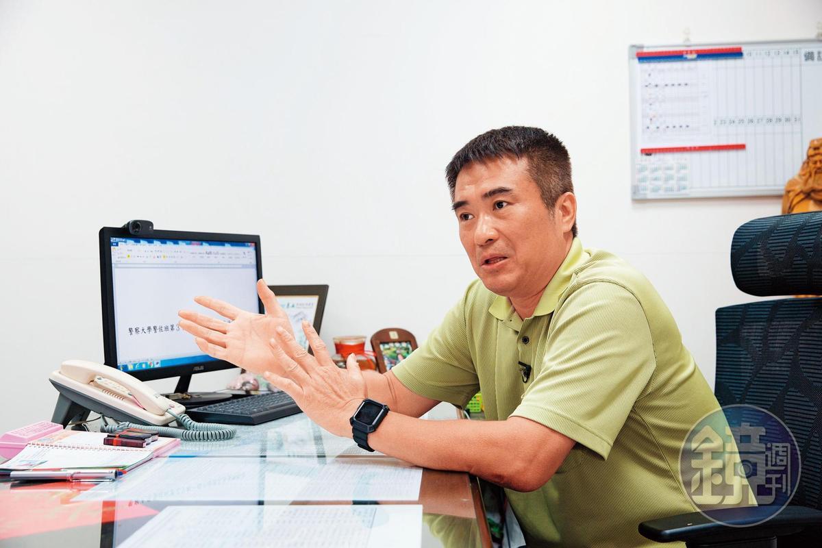 偵破此案的刑警邱量虔(圖)說,楊鴻儒是個心狠、冷靜,但非常膽小的人。