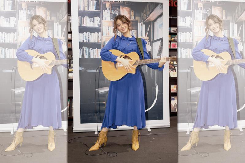 黃姸來台宣傳首張專輯《黃姸說》,臉上總是掛著溫暖笑容,超強親和力拉近了與台灣歌迷的距離。(索尼音樂)