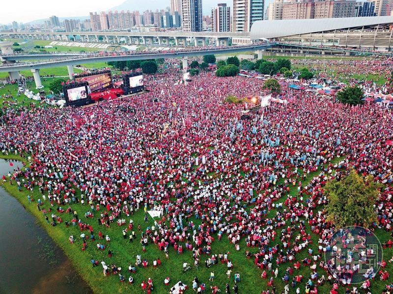 韓國瑜造勢大會造成場地破壞,新北市政府今日一早就派人勘查。
