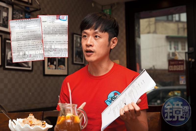 陳嘉行拿出合約控訴,並追討過去7年在momo親子台擔任「焦糖哥哥」的勞健保。