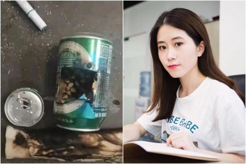 中國有2名女孩模仿「用啤酒罐自製爆米花」致酒精爆炸,美食網紅「辦公室小野」被質疑是錯誤示範的元凶。(翻攝自微博)