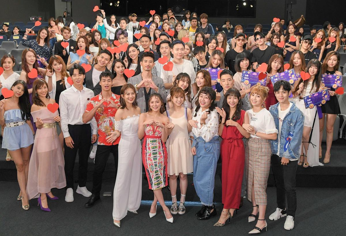 《網紅的瘋狂世界》辦宣傳活動,現場除演員出席外還聚集60網紅直播主。