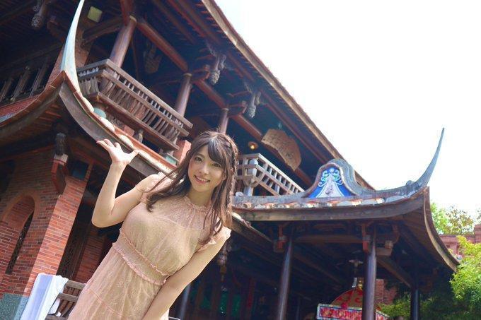 前暗黑女神上原亞衣突然更新在台灣的照片。(翻攝自Mine'S推特)